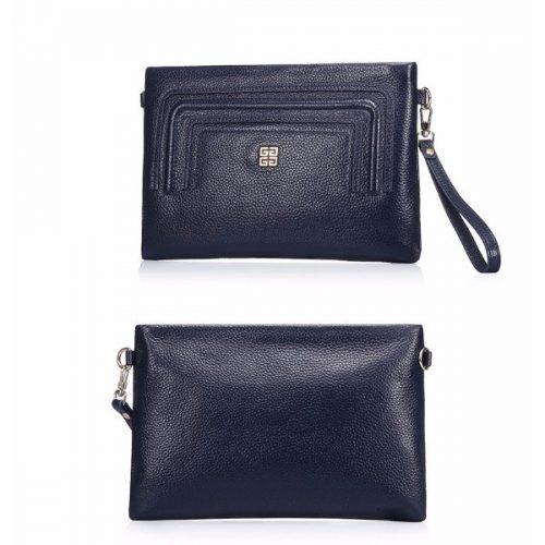 Fashion Genuine Cowhide Leather Metal Strap Shoulder Bag by Gracese
