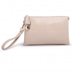 Alligator PU Leather Shoulder Bag Purse Handbags by Gracese – Apricot