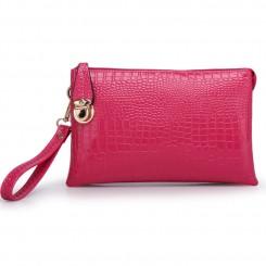 Alligator PU Leather Shoulder Bag Purse Handbags by Gracese – Pink