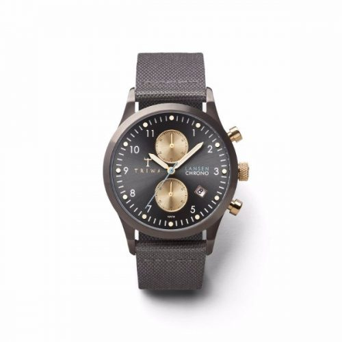 Triwa LCST101-CL061613 Walter Lansen Chrono Unisex Watch Gray Canvas Classic