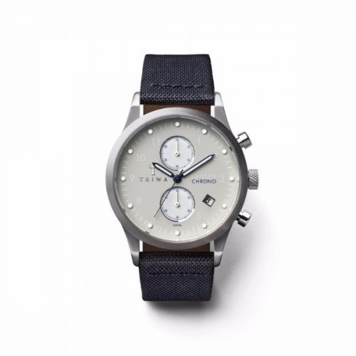 Triwa LCST111-CL060712 Shade Lansen Chrono Unisex Watch Navy Canvas Classic