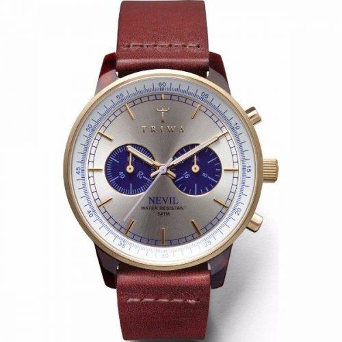 Triwa NEAC109-CL010313- Blue Face Nevil, Cognac Classic Men Watch