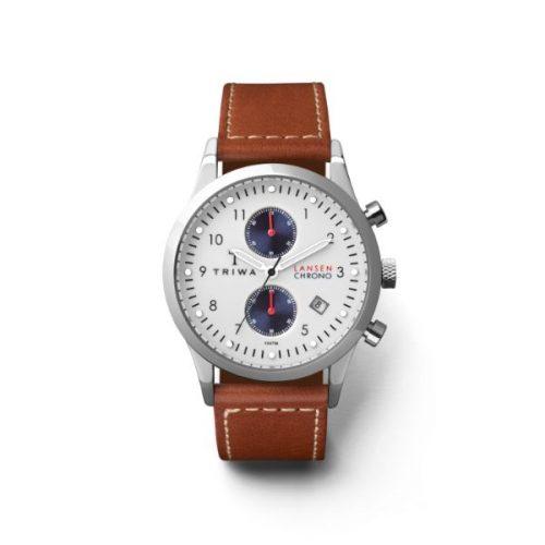 Triwa LCST113-CL010215- Duke Lansen Chronograph Brown Sewn Unisex Watch