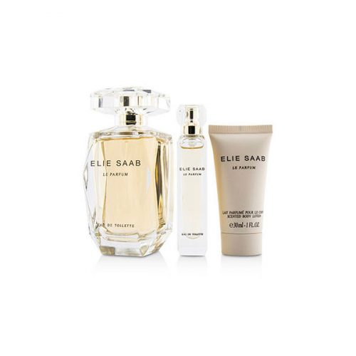 Elie Saab – Le Parfum Coffret Eau De Toilette Spray(90ml/3FL OZ+ Eau De Toilette Spray 10ml/0.33oz+Body Lotion 30ml/1oz) 3983850 3pcs