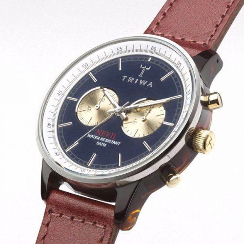 Triwa NEAC118-SC010313- Duke Nevil, Cognac Sewn Unisex Watch