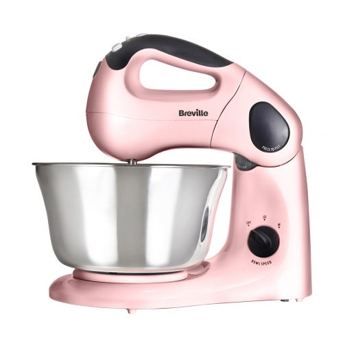 Breville VFP058/VFP061 – Pick & Mix Hand and Stand Food Mixer – Strawberry Cream