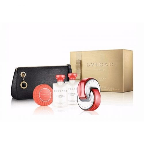 Bvlgari – Omnia Coral Coffret: Eau De Toilette Spray 65ml/2.2oz + Body Lotion 40ml/1.3oz + Shower gel 40ml/1.3oz + Soap 50g/1.7oz + Pouch