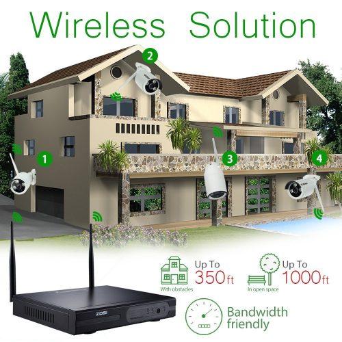 ZOSI®960P/720P HDMI NVR 4PCS 1.3 MP IR Outdoor/Camera Security System Surveillance Kit Indoor P2P Wireless IP CCTV
