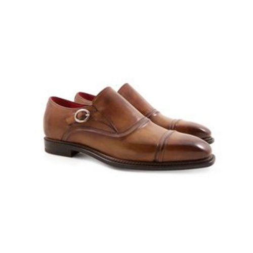 Leonardo Shoes – SIENNA Mod. 5208  (Men's monkstrap loafers Handmade in genuine leather)