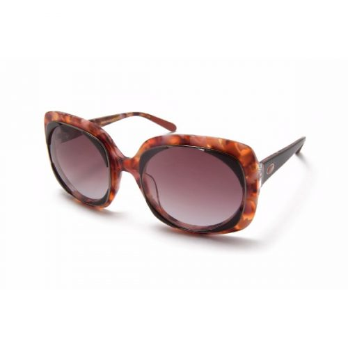Branded MISSONI MI806S03 Black-Maroon Sunglasses Square High UV Protection