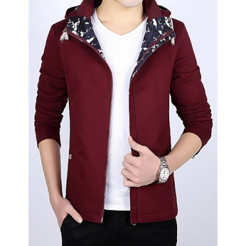 Fashion hooded cotton jacket m new 2016 Korean Japanese young men's spring thin coat tide #05147733