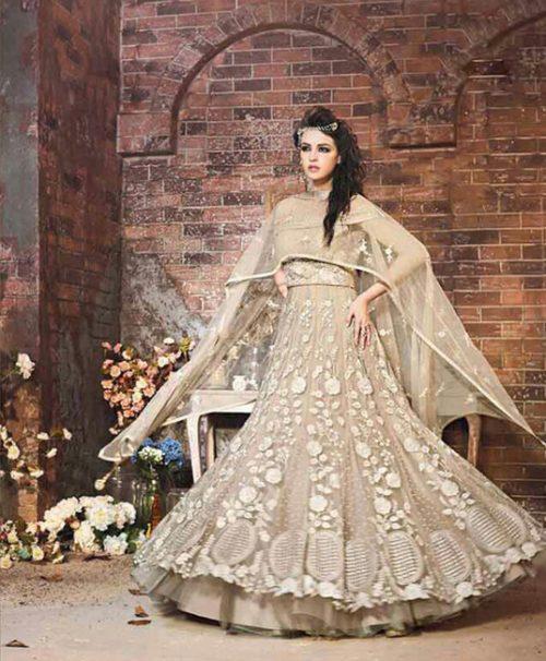 Beige Georgette Wedding Salwar Kameez 78060