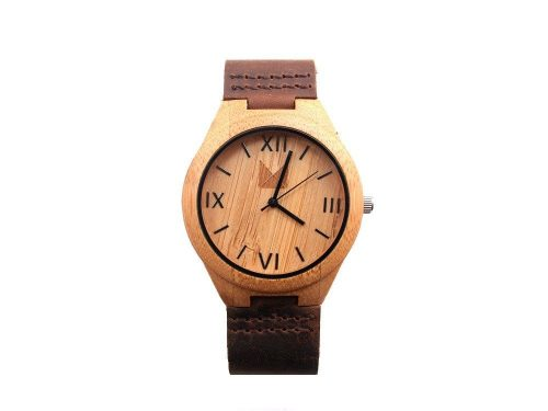 Bamboo Watch Chocolate L  for men