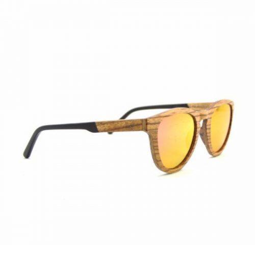 Bamboo Sunglasses Pink Zebra  for men