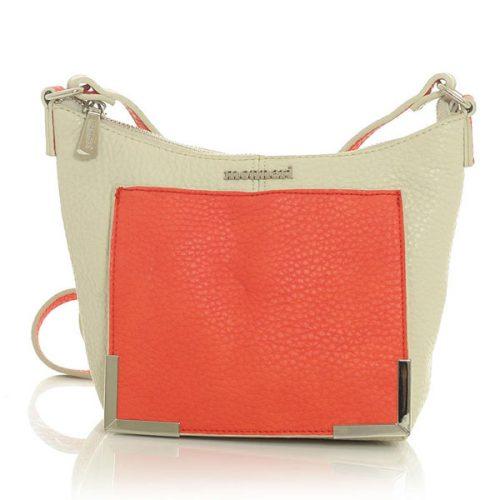 Beige&Red Long Single Shoulder Strap Bag