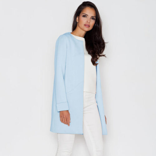 Elegant Round Neck Short Coat