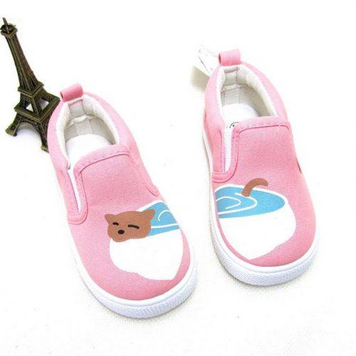 Animal Printing Slip On Canvas Cute Kids Shoes