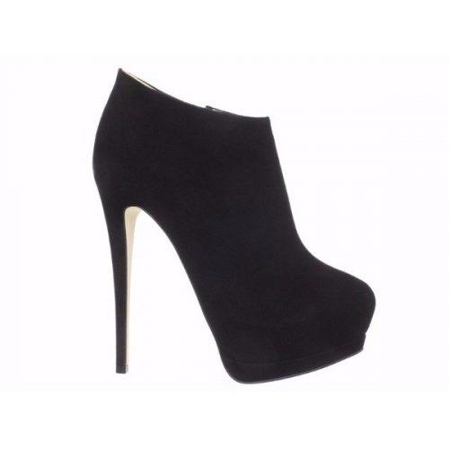 Giuseppe Zanotti black suede leather high heels booties – Mod. I17063