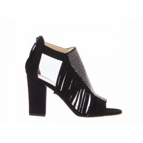 Giuseppe Zanotti heeled sandals in black suede leather – Mod. E60094
