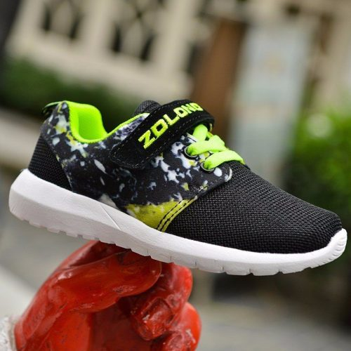 Kids Sneakers Breathable Lace Up Casual Flat Boys Shoes