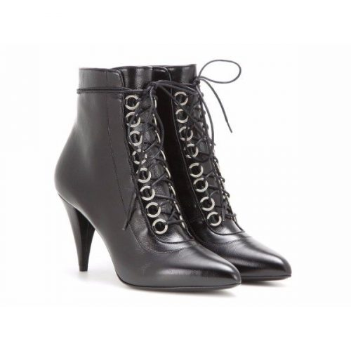 Saint Laurent heeled ankle boots in black Leather- Mod. 405585