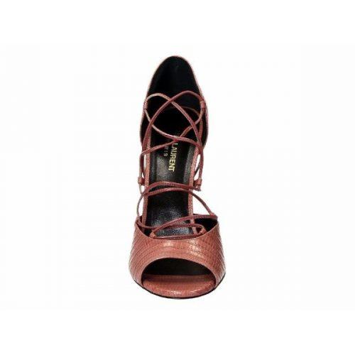 Saint Laurent high heel strappy sandals in Pink Leather – Mod. 427789 CJ500 6234