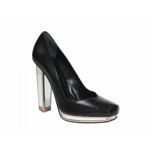 Saint Laurent mirror heels pumps in black Leather – Mod. 306640 AKCY0 1067