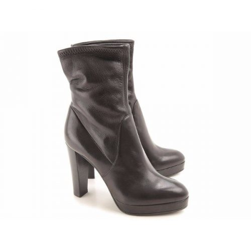 Sergio Rossi high heels ankle boots in black Leather Mod. A72040 MAF715 1000