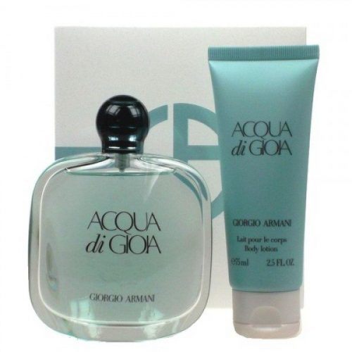 Armani Aqua Di Gioia Edp 100ml/3.4 oz+ Lotion 75ml/2.5 oz ) gift set for women