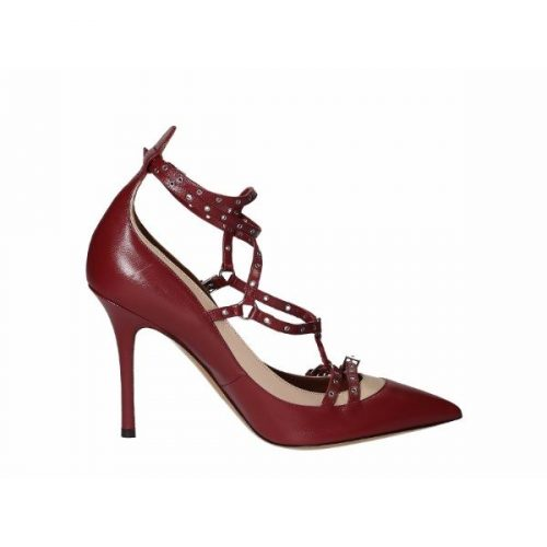 Valentino high heels pumps in True Red Leather – Mod. JW2S0943 CCC S39