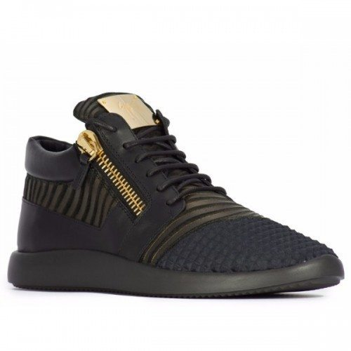 Giuseppe Zanotti men's sneakers in black Leather Fabric