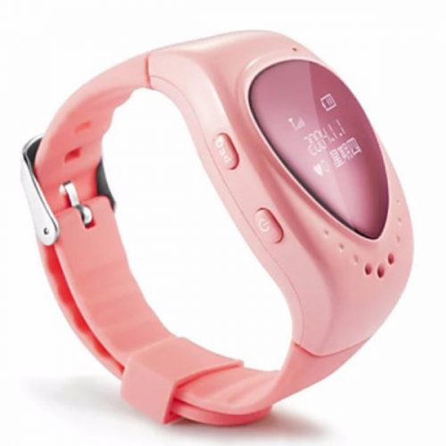 New 2015 High Quality Kid Children Smart Watch for Children's Safety with WiFi+LBS+GPS Three Mode of Positioning – Pink