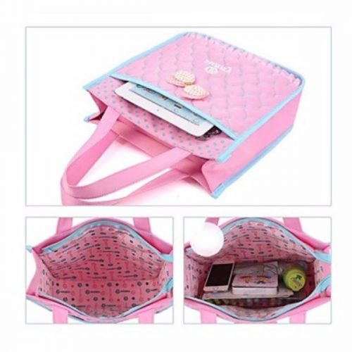 2PCS New Fashion Kids Nylon Fabric Child Girls Primary Teen Student School Bags