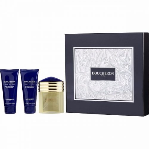 Boucheron for Men Eau De Parfum Spray 3.3 oz & Aftershave Balm 3.3 oz & All Over Shower Gel 3.3 oz
