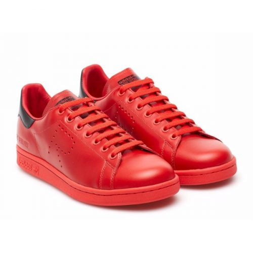 Adidas Stan Smith sneakers from Raf Simons in Red Leather – Mod. ADIDAS RAF SIMONS BA7377