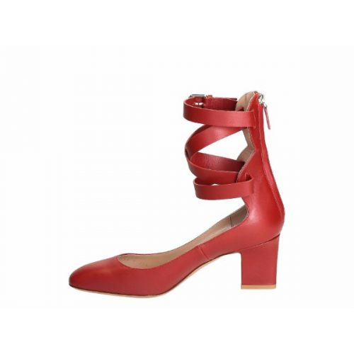Valentino heels ankle straps pumps in red Leather – Mod. MW0S0C62 VNP 0RO