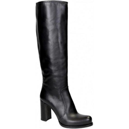 Prada knee high boots in black Calf leather