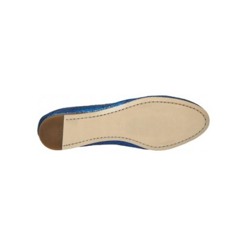 Prada flats ballerina shoes in Bright Blue Glitter