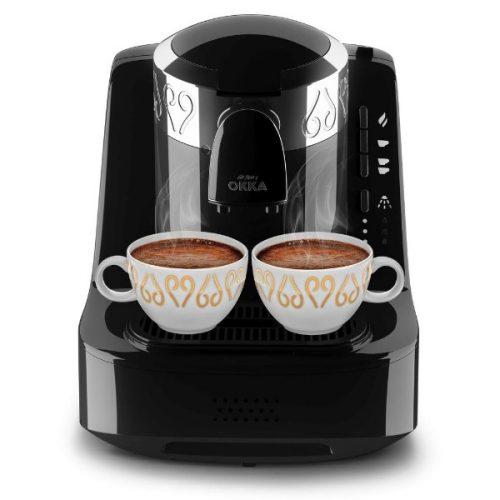 Arzum OKKA Full Automatic Turkish Coffee Machine OK002 Chrome Black