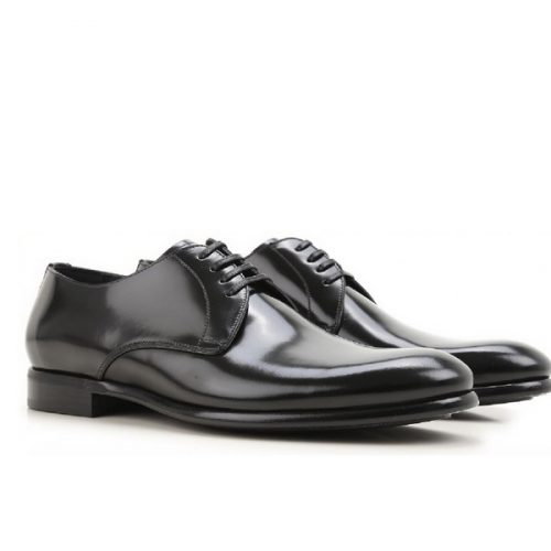 Dolce&Gabbana men's lace-up in black Shiny calf leather