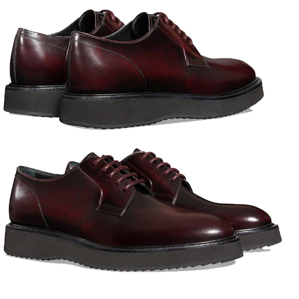 Hogan Route X H271 lace-ups in burgundy leather - 7Store