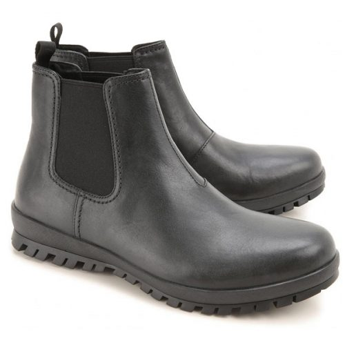 Prada men's ankle boots in black Calf leather