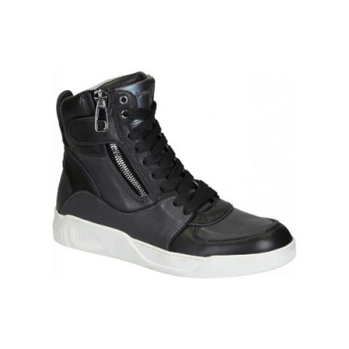 Dolce&Gabbana men's high sneakers in gray leather