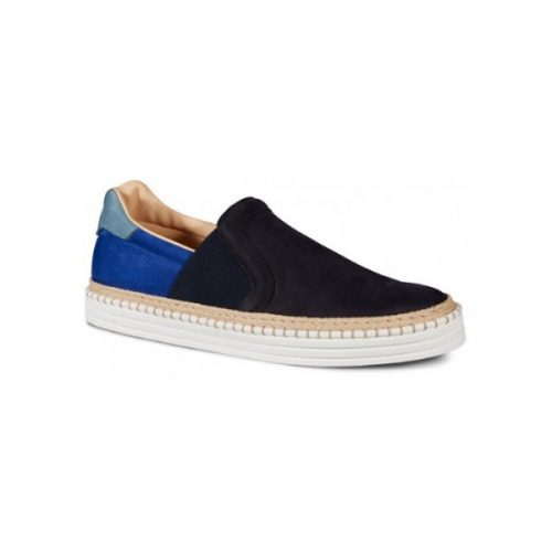 Hogan men slip-ons in blue Leather Nubuck