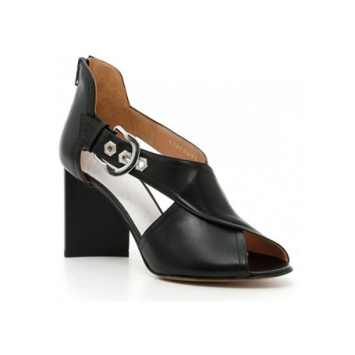 Maison Margiela high heel sandals in black Leather