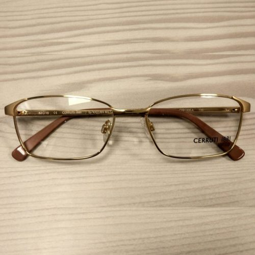 Cerruti CER1005 B Gold  Rim Prescription Eyeglasses