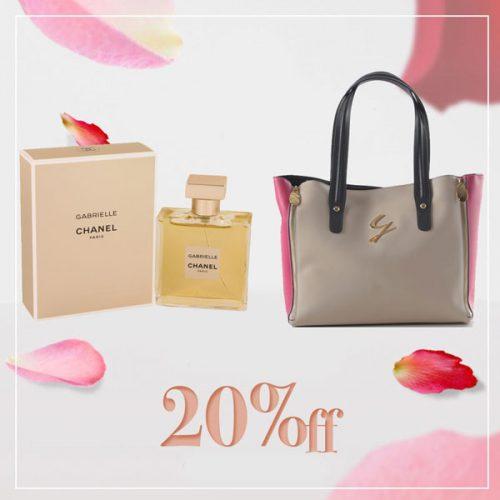 Gabrielle 50ml Eau De Perfume by Chanel With Shoulder Handbag by Gattinoni