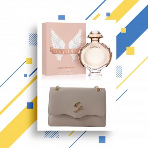 Olympea EDP 80ml/by Paco Rabanne With Falp Shoulder chain bag by Gattinoni