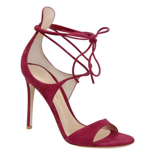 Gianvito Rossi women high heel sandals in Fuchsia suede leather