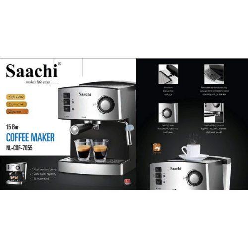 Saachi Coffee Maker, NL-COF-7055, Silver